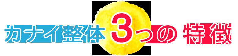 カナイ整体3つの特徴